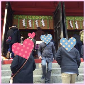 二荒山神社での男女