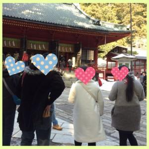 二荒山神社でグループ散策