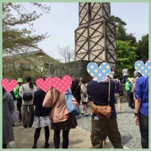 韮山反射炉でグループ散策