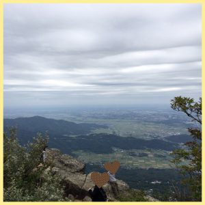 筑波山山頂からの眺め